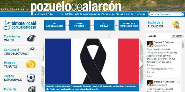Susana Pérez Quislant manifiesta la solidaridad con los franceses en nombre de los pozueleros