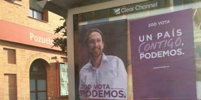 El PP de Pozuelo denuncia una pegada de carteles de Podemos y Unidad Popular en el municipio
