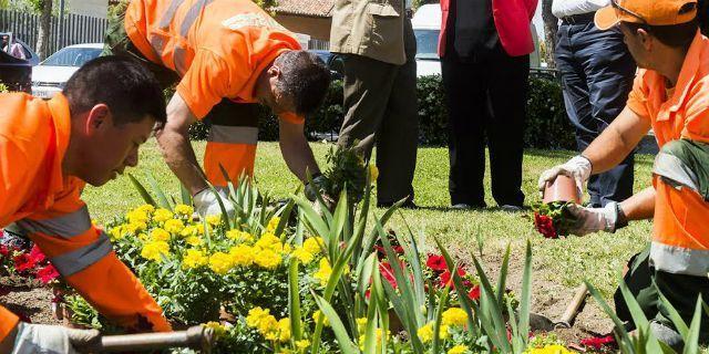Los jardines de Pozuelo se renuevan con flores de temporada