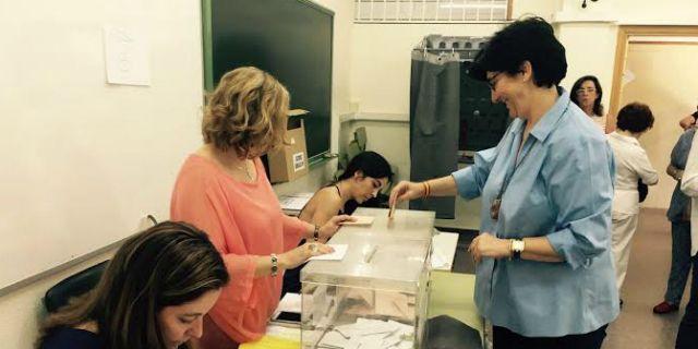 Susana Pérez Quislant vota en el Camilo José Cela