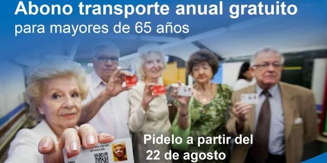 Pozuelo subvenciona el Abono Transporte Anual a los mayores de 65 años con menos recursos