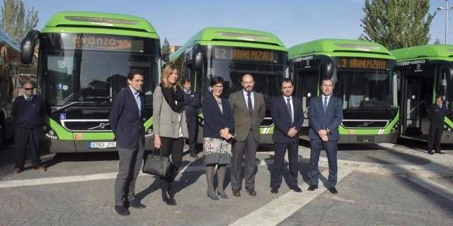 Cinco nuevos autobuses híbridos prestarán servicio en Pozuelo